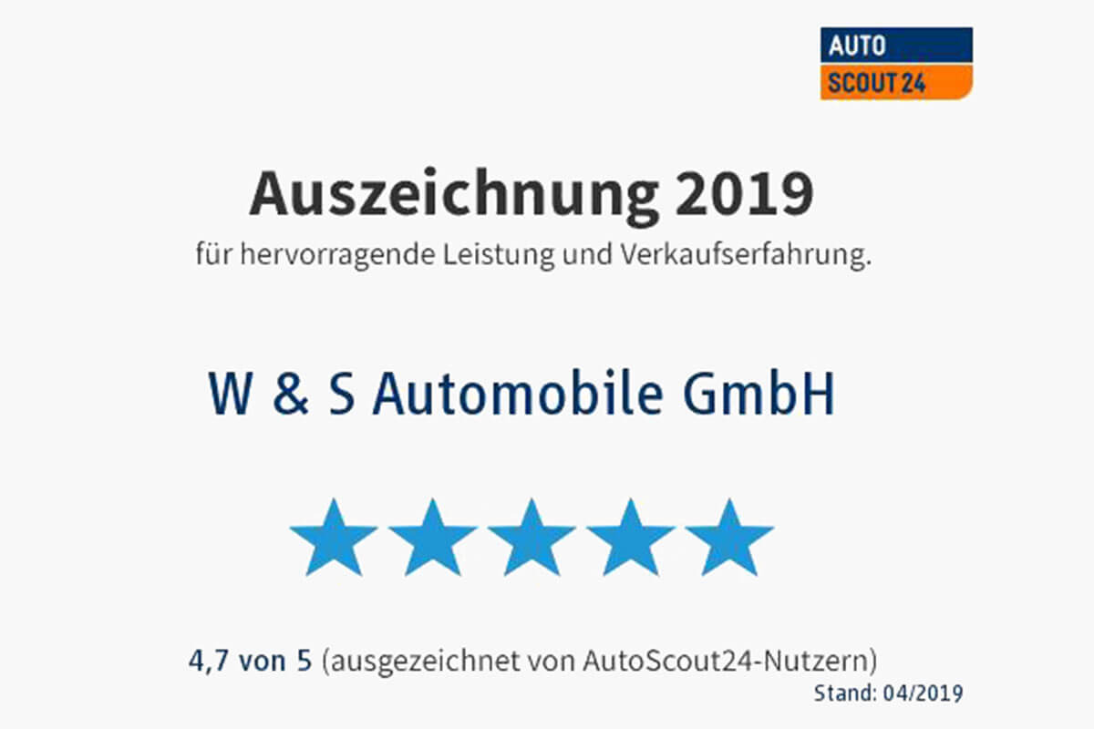 W & S Automobile GmbH Top Händler 2019